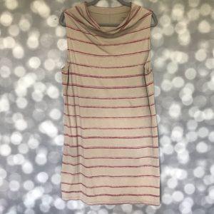 Patagonia Striped Cowl Neck Tunic Dress